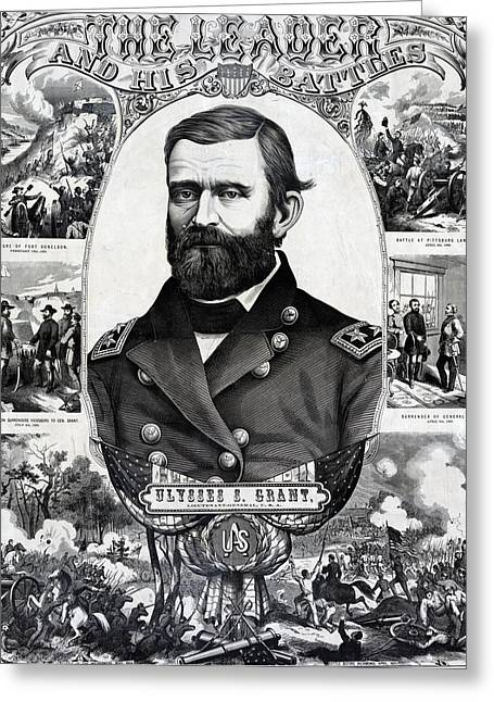American Politician Greeting Cards - Ulysses S Grant and his battles Greeting Card by International  Images