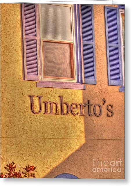 Umberto Greeting Cards - Umbertos Greeting Card by David Bearden