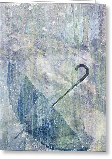 Epic Amazing Colors Landscape Digital Modern Still Life Trees Warm Natural Greeting Cards - Umbrella Greeting Card by Brett Pfister