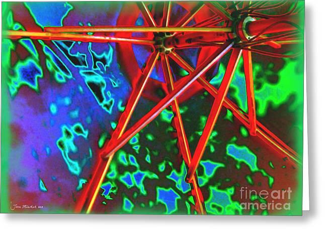 Unbrella Greeting Cards - Umbrella  Greeting Card by Joan  Minchak