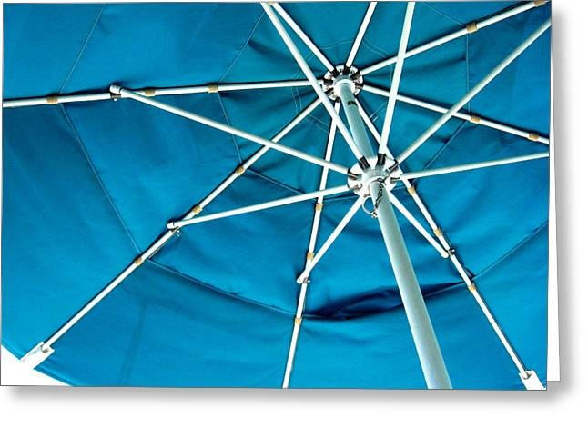 Umbrellas Photographs Greeting Cards - Umbrella Greeting Card by Marsha Elliott