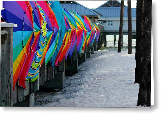 Umbrellas Greeting Card by Shweta Singh