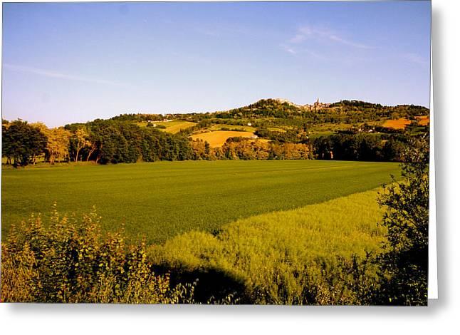 Femina Photo Art Greeting Cards - Umbria Italy Landscape Greeting Card by Maggie Vlazny