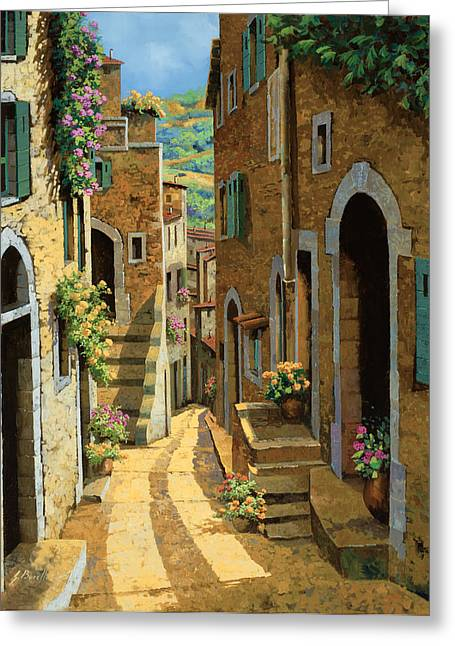 Fields Greeting Cards - Un Passaggio Tra Le Case Greeting Card by Guido Borelli
