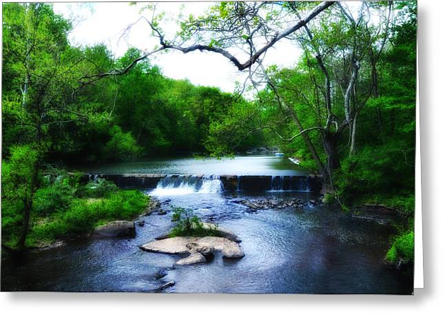 Stream Digital Art Greeting Cards - Unami Creek Dam Greeting Card by Bill Cannon