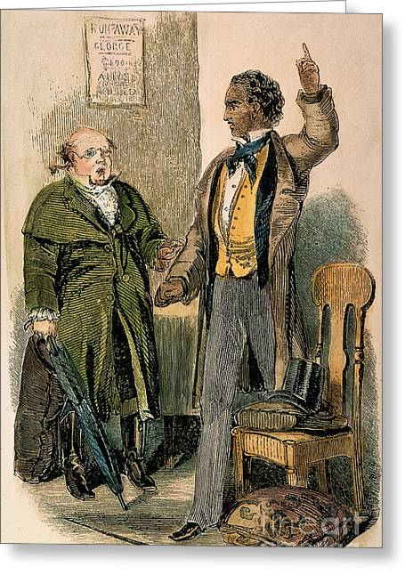 Uncle Tom Greeting Cards - Uncle Toms Cabin: George Greeting Card by Granger