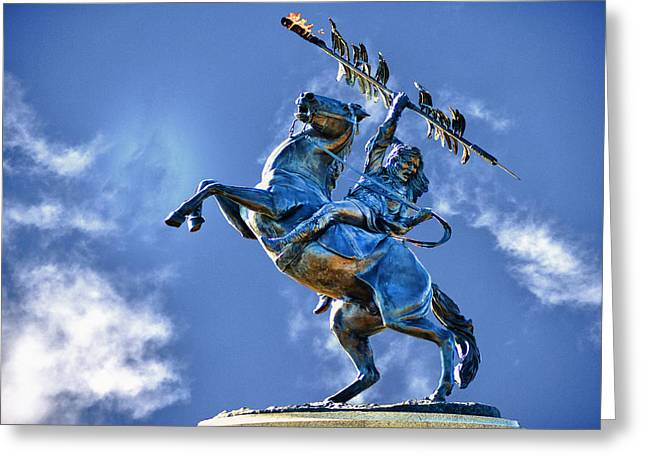 Renegade Greeting Cards - Unconquered Chief Osceola and Renegade Greeting Card by Frank Feliciano