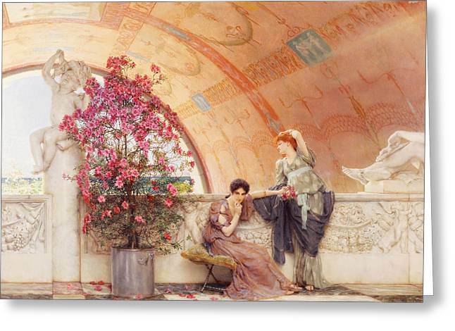 Unconscious Rivals Greeting Card by Sir Lawrence Alma Tadema