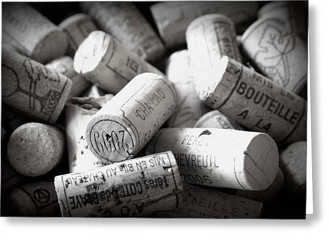 Images Of Wine Bottles Photographs Greeting Cards - Uncorked Greeting Card by Nomad Art And  Design