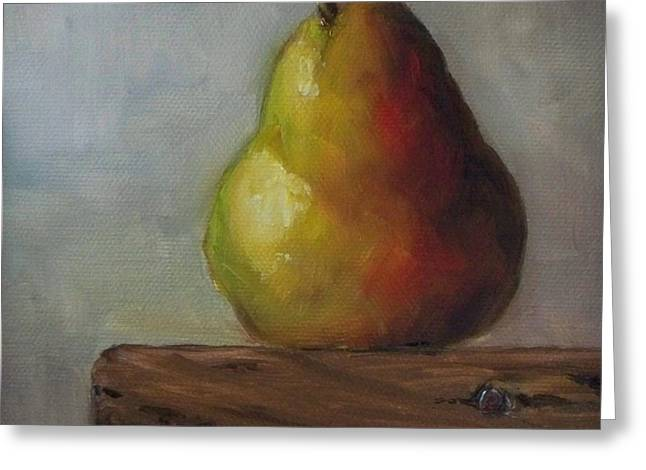Kristine Greeting Cards - Uncrated Pear Greeting Card by Kristine Kainer