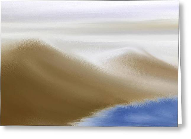 Manley Digital Art Greeting Cards - Under A Winter Sky Greeting Card by Gina Lee Manley