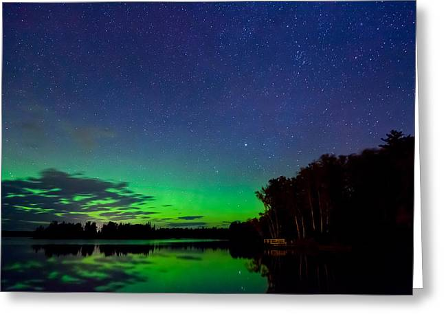 Birch Lake Greeting Cards - Under an Alien Sky Greeting Card by Adam Pender