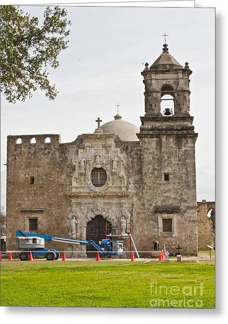 Goliad Texas Greeting Cards - Under Construction Greeting Card by Kim Henderson