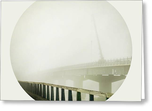 Misty Bridge Greeting Cards - Under Construction Greeting Card by Linde Townsend