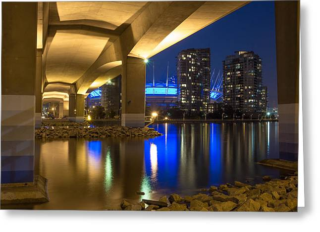 Cambie Bridge Greeting Cards - Under Da Bridge Greeting Card by Mirco Millaire