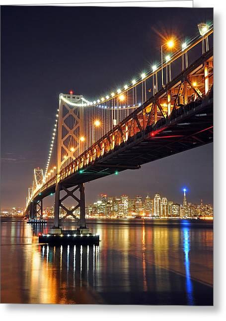Under The Bay Bridge Greeting Card by Jessie Dickson