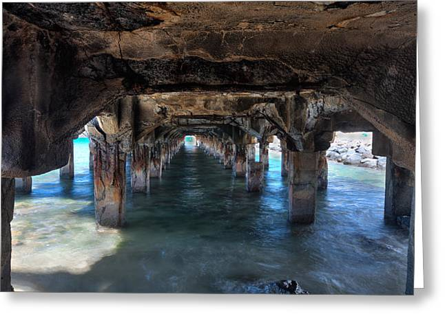 Under The Boardwalk Greeting Card by James Roemmling