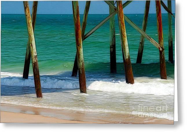 Under The Boardwalk Greeting Card by Judi Bagwell