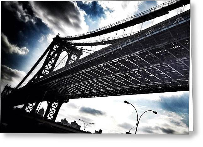 Greeting Cards - Under The Bridge Greeting Card by Christopher Leon