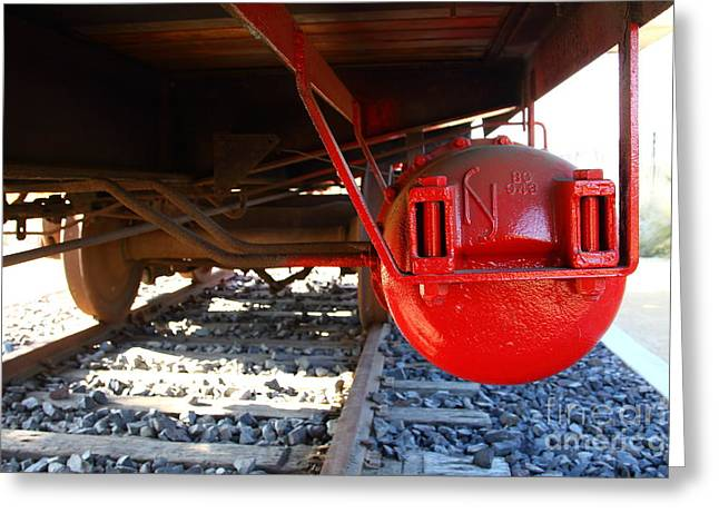 Under The Old Western Pacific Caboose Train . 7D10722 Greeting Card by Wingsdomain Art and Photography