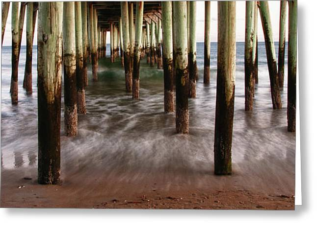 Ocen Landscape Greeting Cards - Under the Pier Greeting Card by Guy Whiteley
