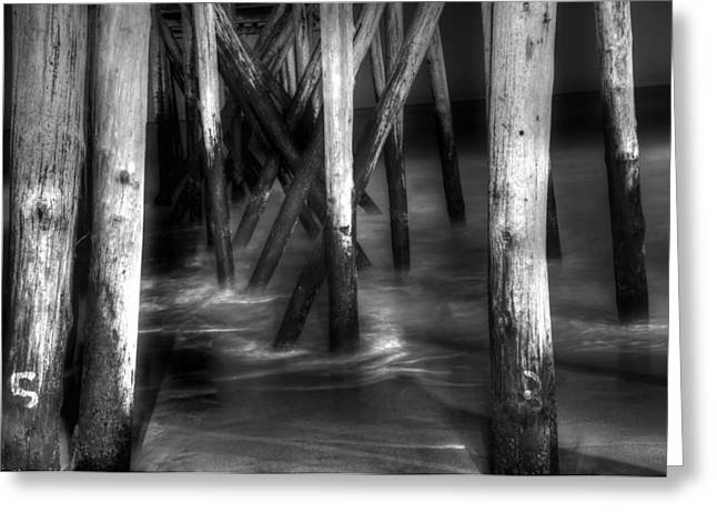 Beach At Night Greeting Cards - Under the Pier Greeting Card by Paul Ward