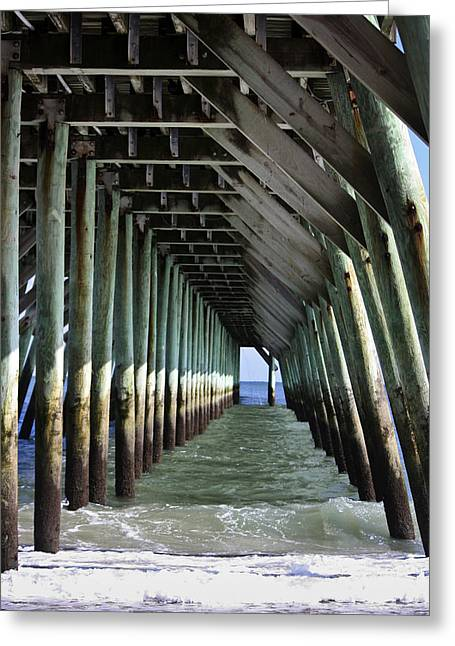 Under The Pier Greeting Card by Teresa Mucha