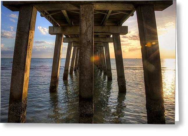 Naples Greeting Cards - Under the Pier Greeting Card by William Wetmore