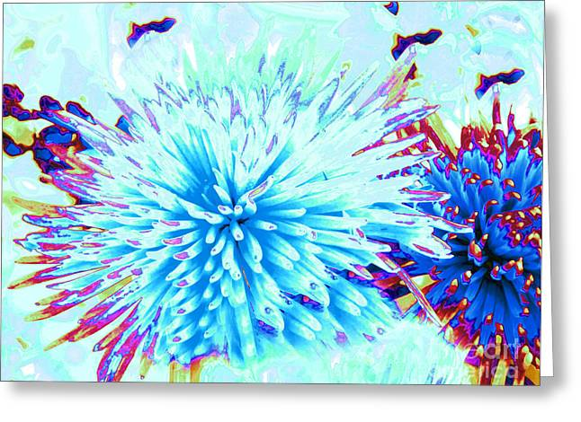 Abstract Movement Greeting Cards - Under The Sea Greeting Card by Cindy Lee Longhini