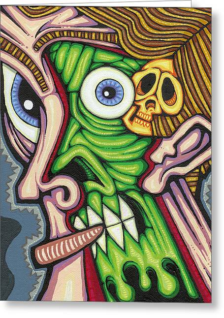 Inner Self Paintings Greeting Cards - Under the Skin Greeting Card by Jason Hawn