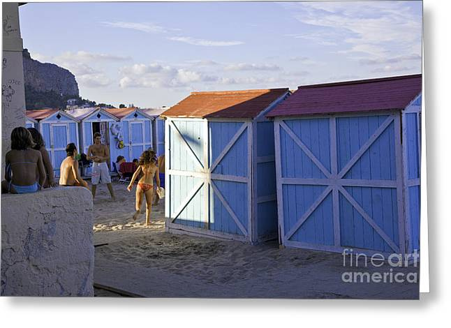 Cabanas Greeting Cards - Under the Sun Greeting Card by Madeline Ellis