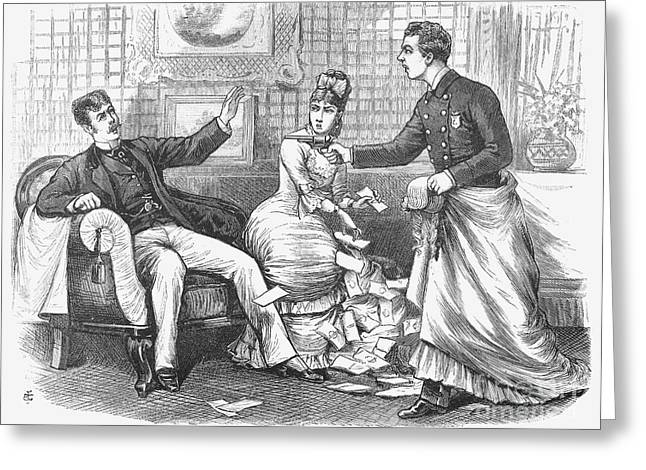 Undercover Police, 1870 Greeting Card by Granger