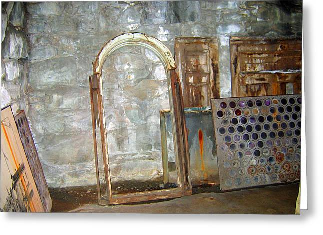 Underground Art Greeting Card by Kathy Moll