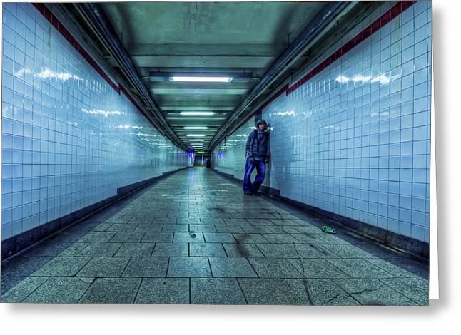Subway Greeting Cards - Underground Inhabitants Greeting Card by Evelina Kremsdorf