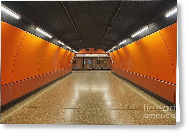 Basement Greeting Cards - Underground Metro System Greeting Card by Dave & Les Jacobs