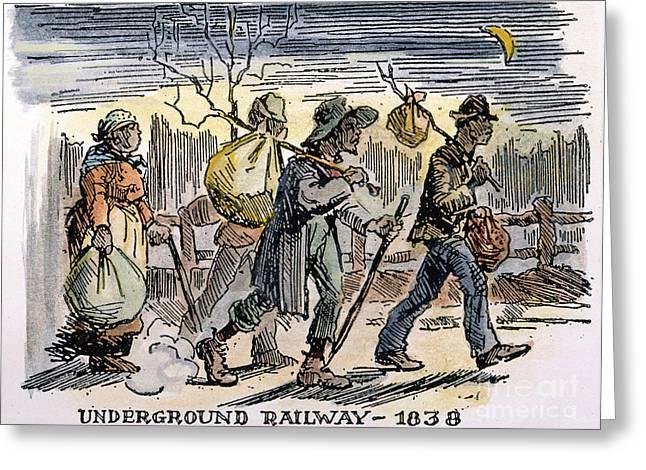 Underground Railroad Photographs Greeting Cards - Underground Railroad, 1838 Greeting Card by Granger