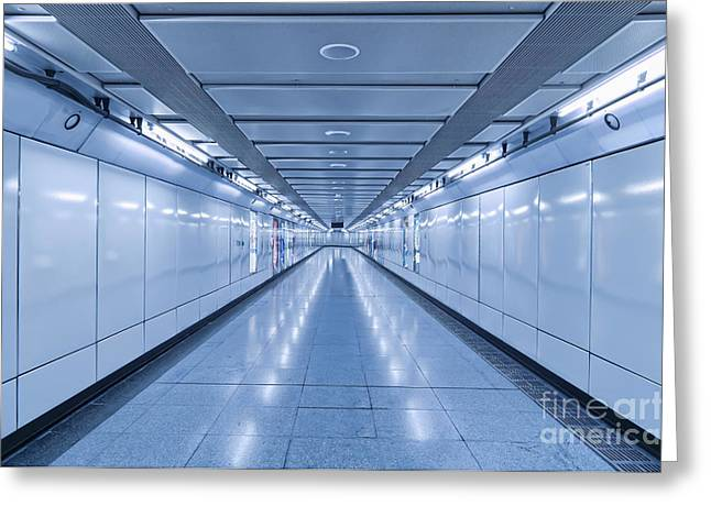 Underground Walkway Greeting Card by Dave & Les Jacobs