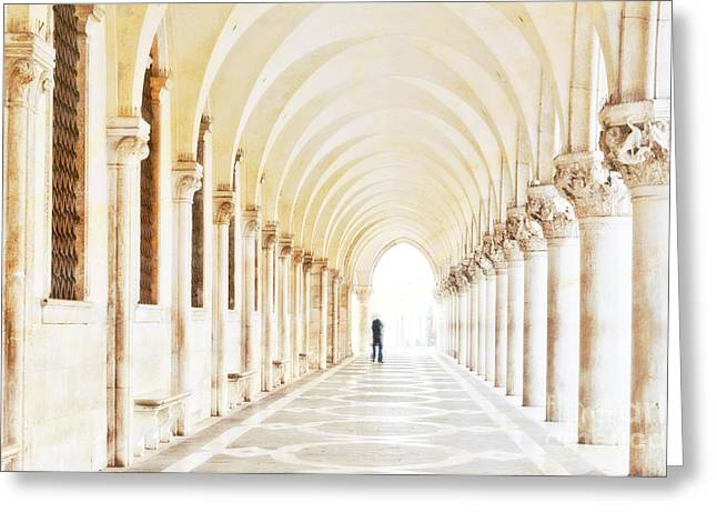 St. Marks Greeting Cards - Underneath the Arches Greeting Card by Marion Galt