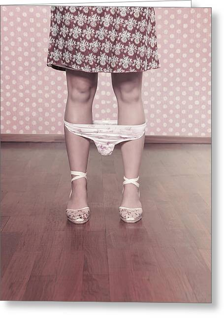 Naughty Greeting Cards - Underpants Greeting Card by Joana Kruse
