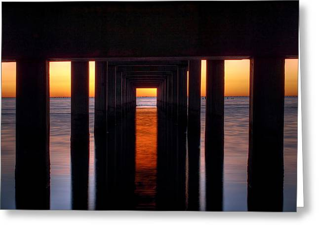 Underside Of The Pier Greeting Card by Pixel Perfect by Michael Moore
