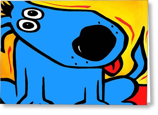 Fidostudio Greeting Cards - Understood - Abstract DOG Pop Art by Fidostudio Greeting Card by Tom Fedro - Fidostudio