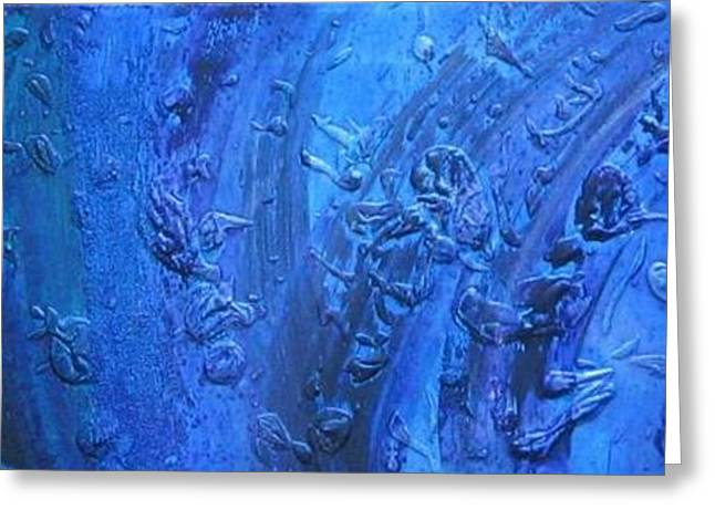 Undertow Paintings Greeting Cards - Undertow Greeting Card by Marco Rosales Shaw