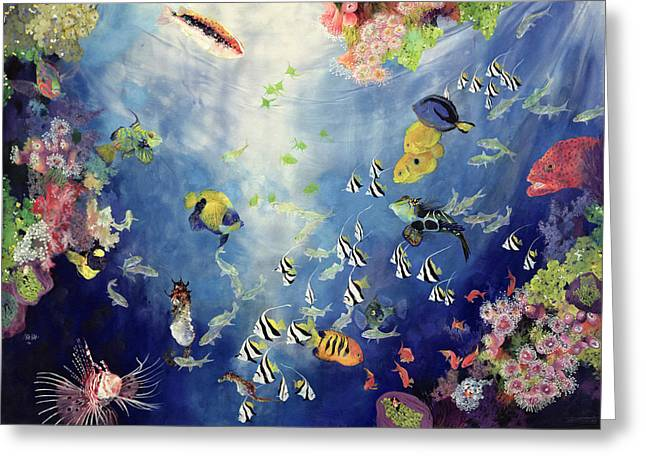 Aquariums Greeting Cards - Underwater World II Greeting Card by Odile Kidd