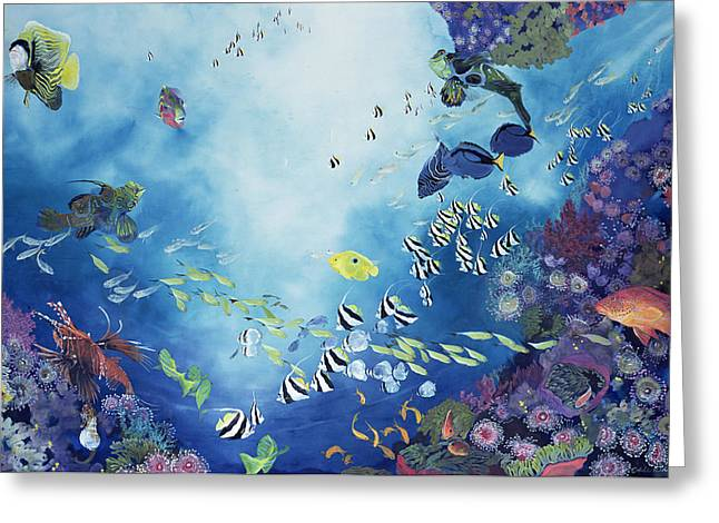 Aquatic Paintings Greeting Cards - Underwater World III Greeting Card by Odile Kidd