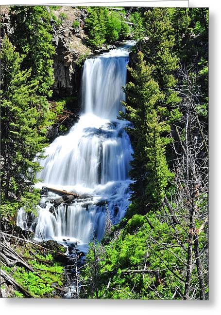 Grand Tetons Greeting Cards - Undine Falls Greeting Card by Greg Norrell