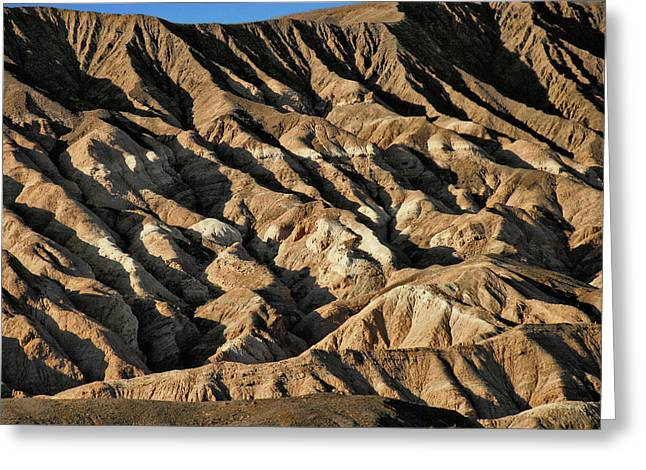 Rugged Greeting Cards - Unearthly world - Death Valleys badlands Greeting Card by Christine Till