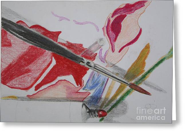 Sokolovich Paintings Greeting Cards - Unfinished Greeting Card by Ann Sokolovich