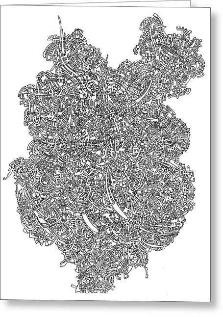 Circuit Drawings Greeting Cards - Unfinished Open Landscape 1 Greeting Card by Power City Images