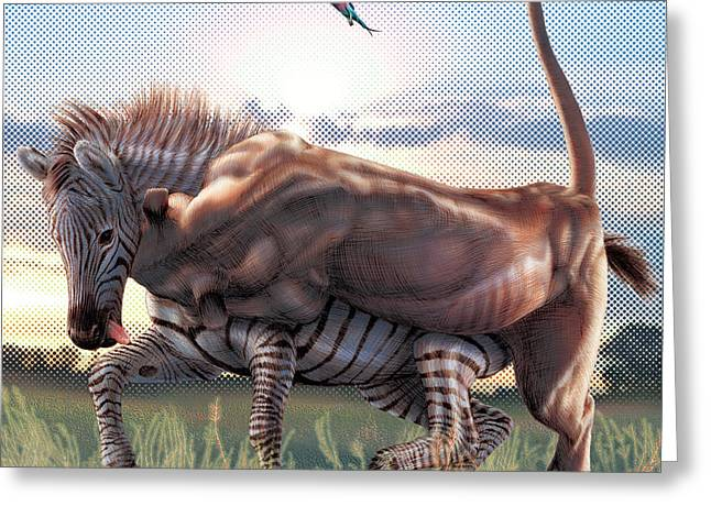 Zebra Colt Greeting Cards - Unforgivable Greeting Card by David Starr