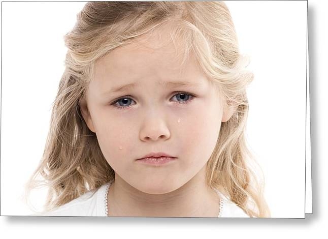 4-5 Years Greeting Cards - Unhappy Girl Greeting Card by